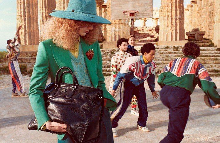 Gucci最新曝光的2019早秋廣告,選在西西里塞利農特遺址公園拍攝。圖/Guc...