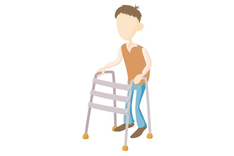 盡管助行器支撐力比手杖好,但不代表一定比手杖適合,要看長輩需求。 圖/ingim...