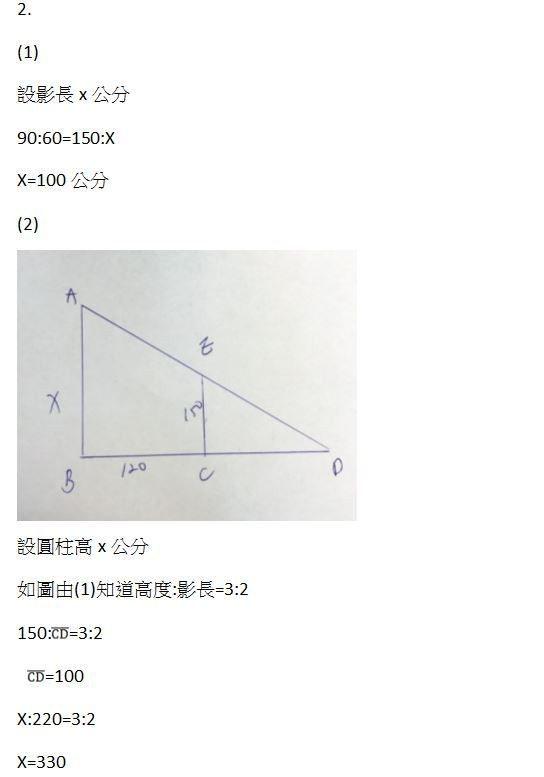 非選題第二題解答。圖/冠博提供