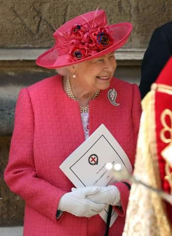 英國女王伊麗莎白二世出席堂侄女加布瑞拉溫莎夫人(LadyGabriella Wi...