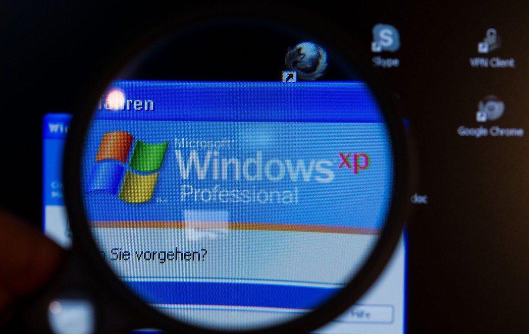 微軟安全更新包括Windows XP等舊版系統。 歐新社資料照