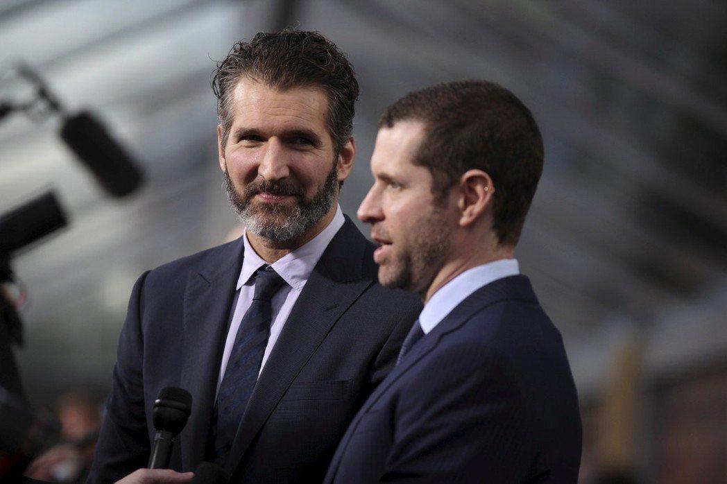 「冰與火之歌:權力遊戲」原創大衛班尼歐夫(左)與丹魏斯的新戲,HBO及所有OTT...