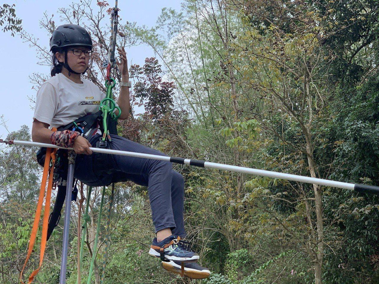 林業採種員今年29歲柯雅韻。記者吳淑玲/攝影