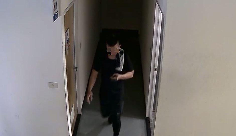 警方根據監視器畫面找到涉嫌偷拍的男子。記者翁禎霞/翻攝