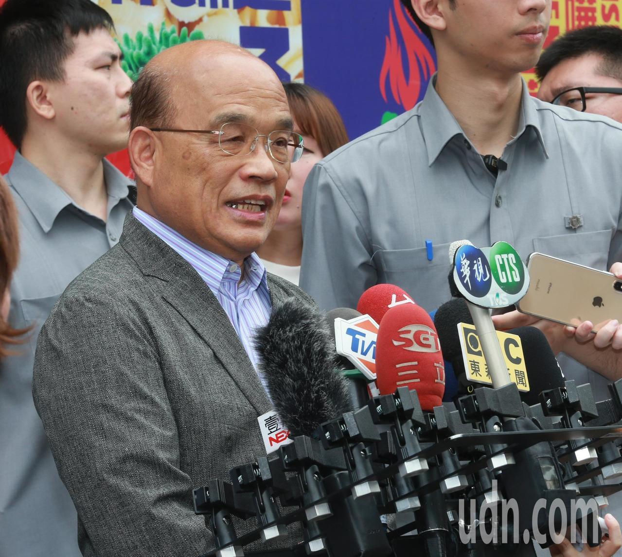 蘇貞昌受訪表示,法案通過共創三贏,滿足「立專法」的公投結果,貫徹大法官作出釋字7...