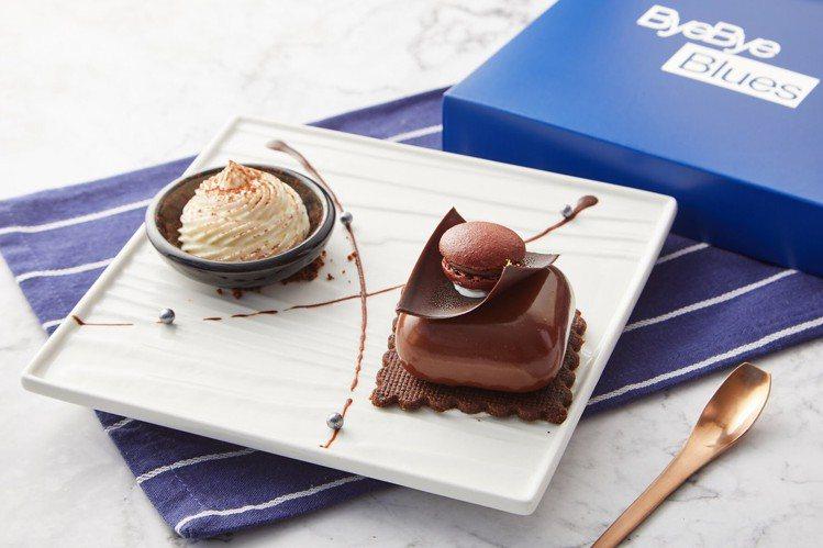 「薑味伯爵巧克力慕斯」加入新鮮薑泥與巧克力結合成特別的香氣。圖/bye bye ...
