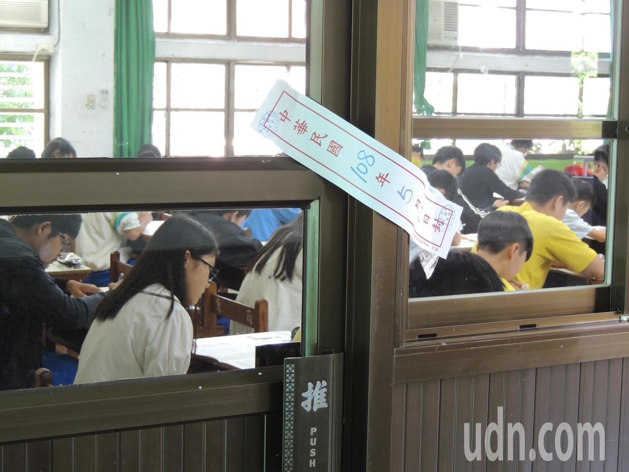 國中會考今天落幕,台東考區整體秩序良好,沒有考生作弊。記者羅紹平/攝影