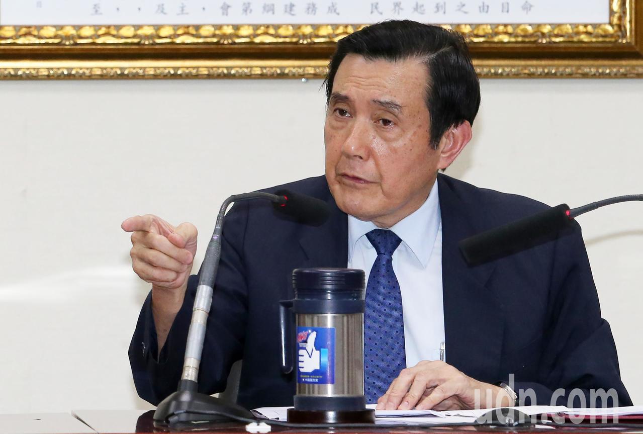 針對國家機密保護法延長管制期限,前總統馬英九與前副總統吳敦義今天舉行記者會,馬英...