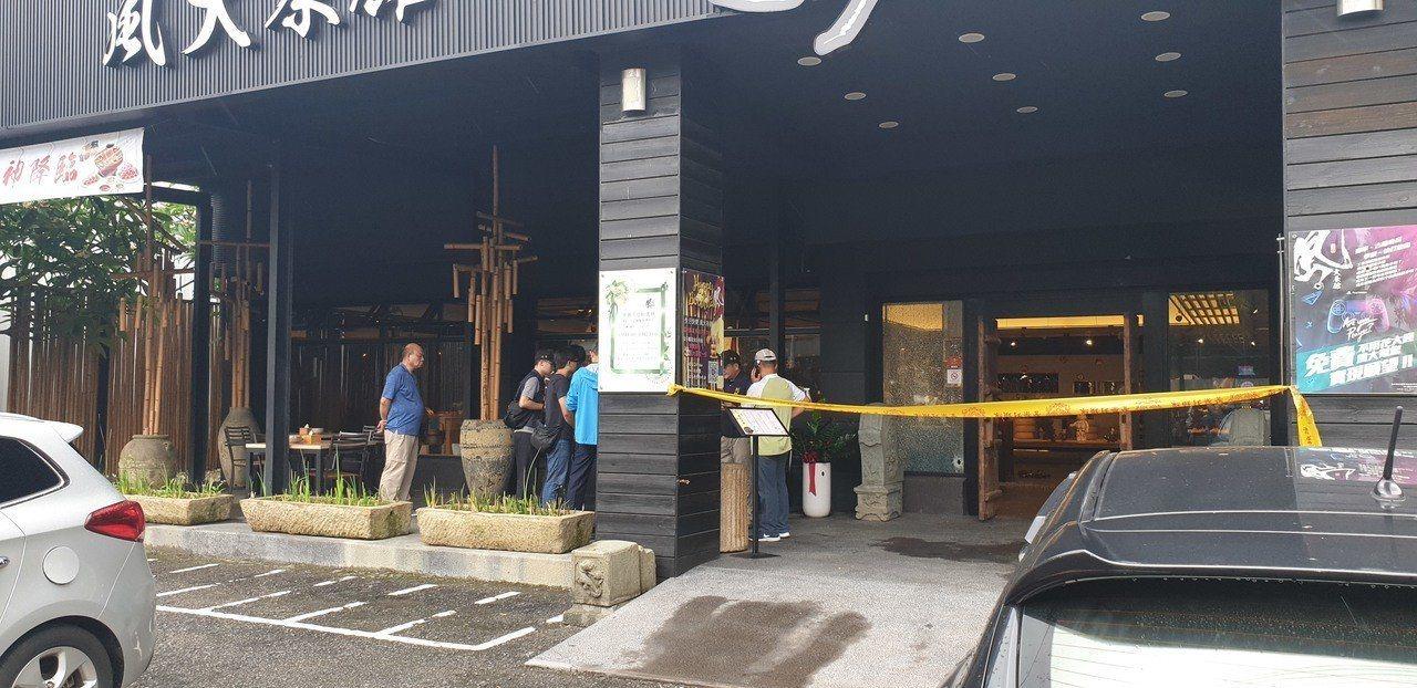 台中市沙鹿區中山路茶館昨天中午傳出槍擊案,史姓詐欺集團成員身中10槍身亡。圖/本...