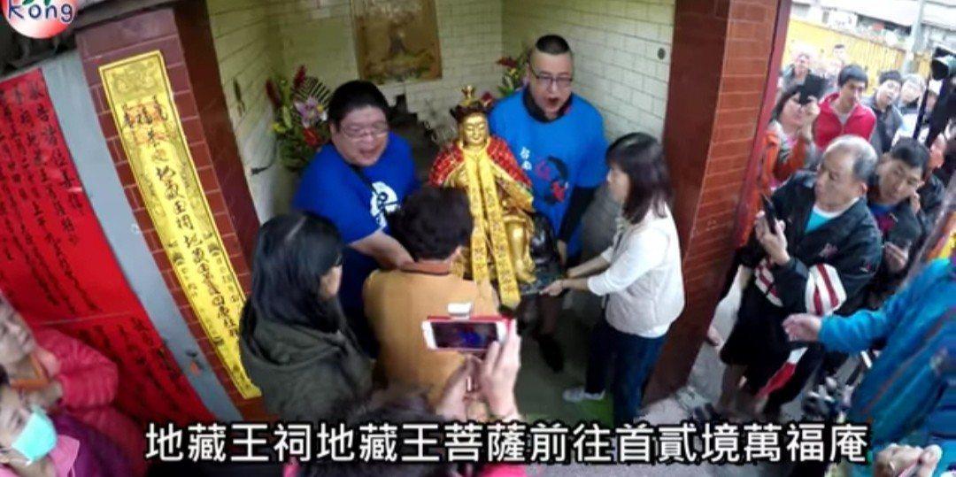 台南鐵路地下化路段旁的地藏王神像在地方民眾協助下,今年2月移往中西區安奉。圖/台...
