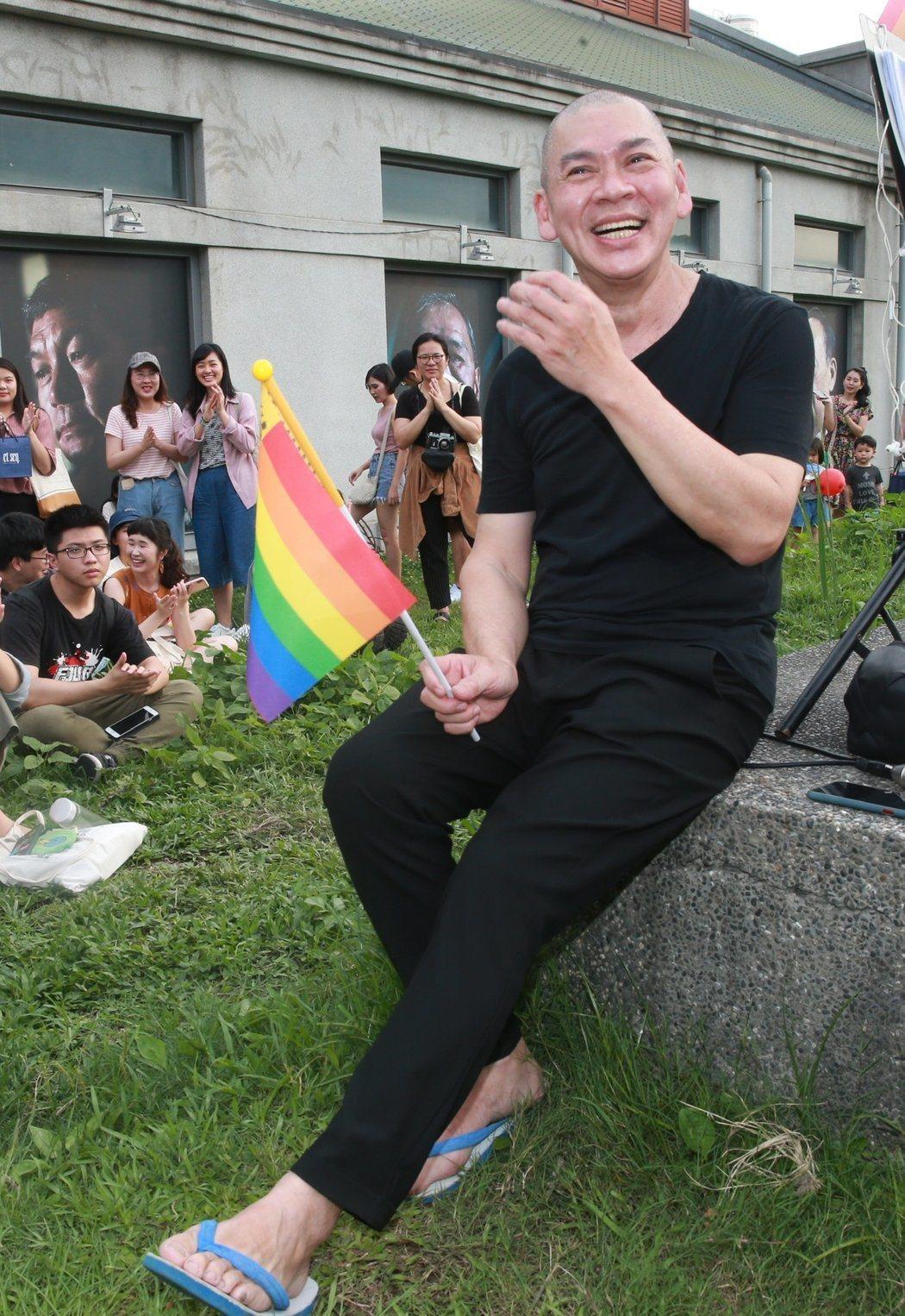 蔡明亮表示,對平權法案的通過感到興奮。記者黃義書/攝影
