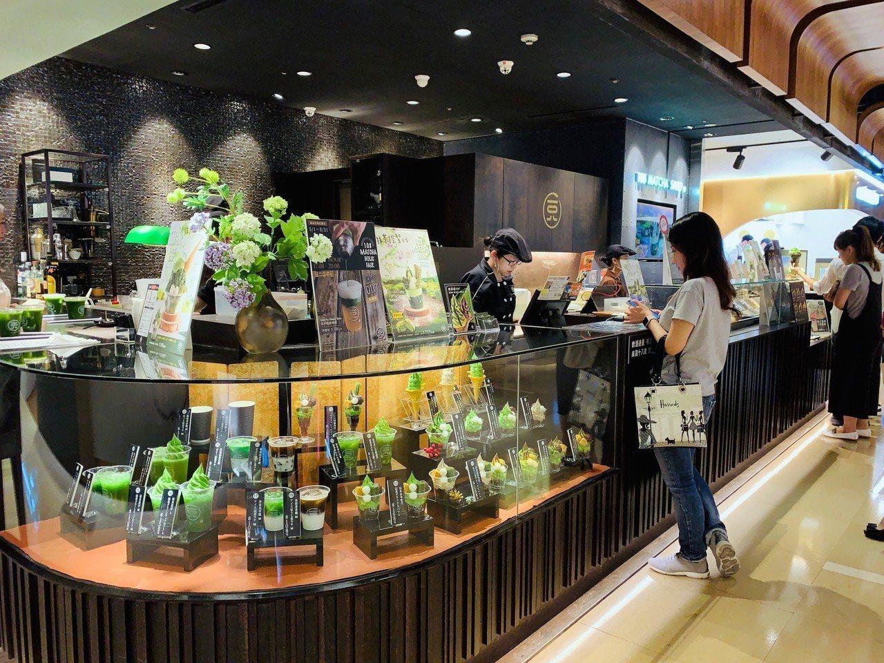 一〇八抹茶茶廊誠品信義店。記者張芳瑜/攝影