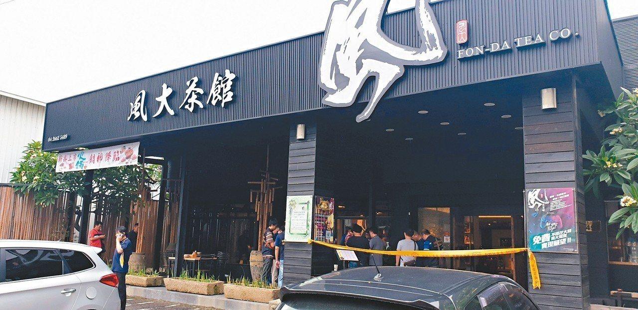 台中沙鹿區前天發生槍擊命案,被害人在茶館內被亂槍擊斃。 記者游振昇/攝影