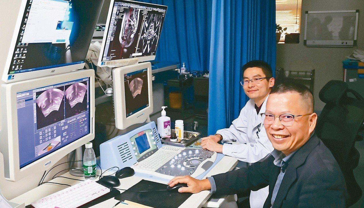 鄭丞傑表示若中小型子宮肌瘤也可能影響生育,可考慮沒有刀口的海扶刀手術。 圖/鄭丞...