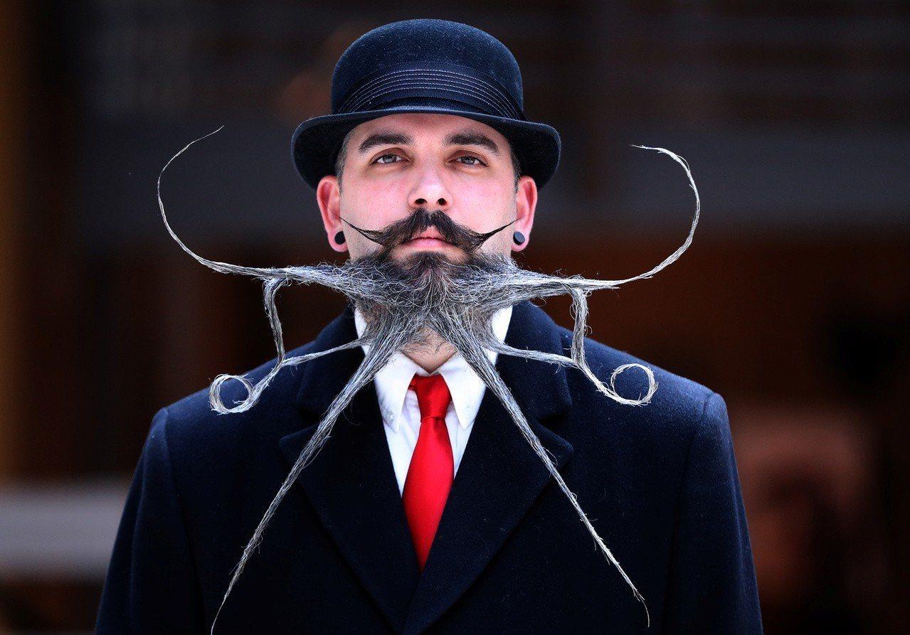 比利時安特衛普(Antwerp),18日舉行「世界鬍鬚錦標賽」。 路透社