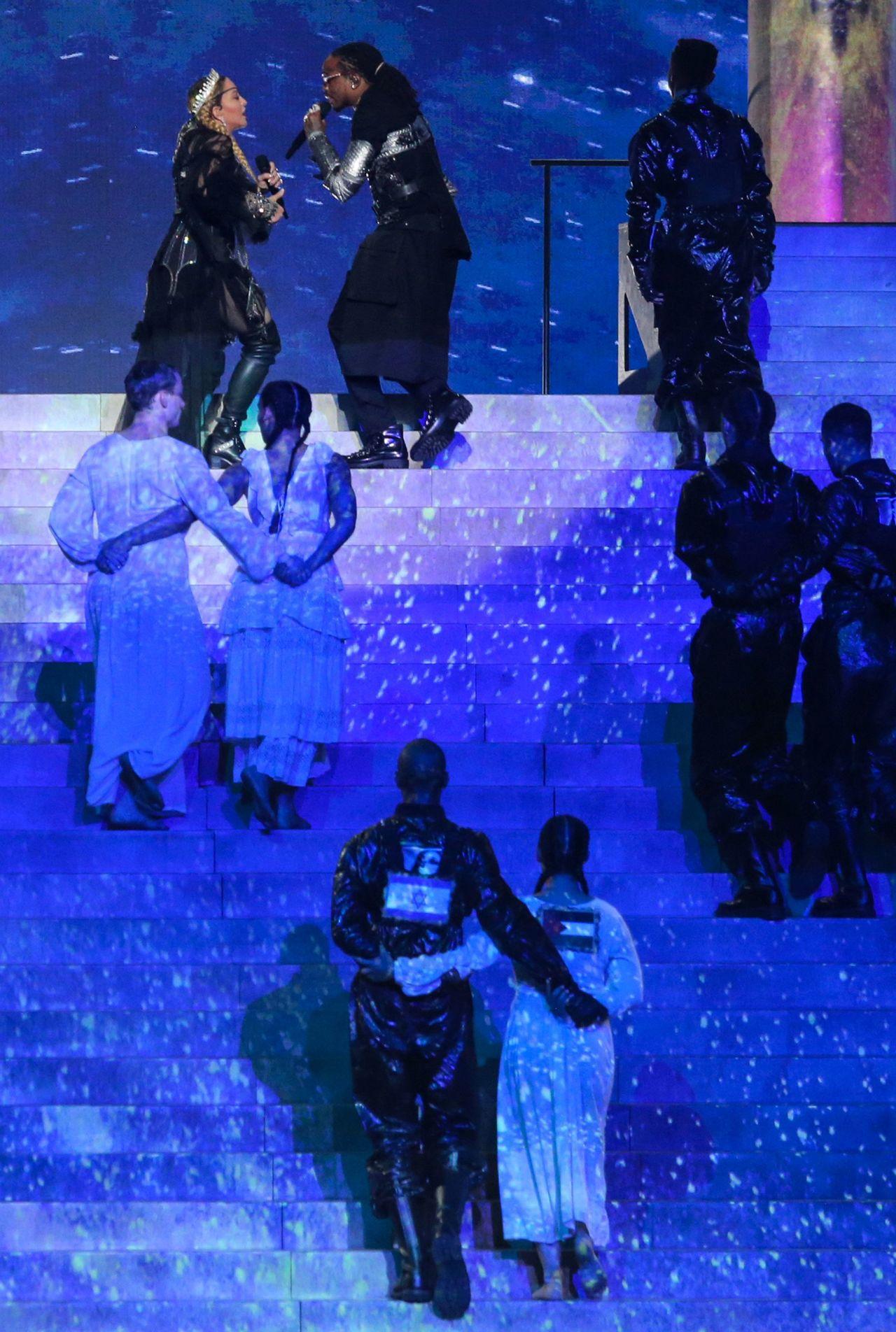 歐洲歌唱大賽瑪丹娜惹議。 法新社