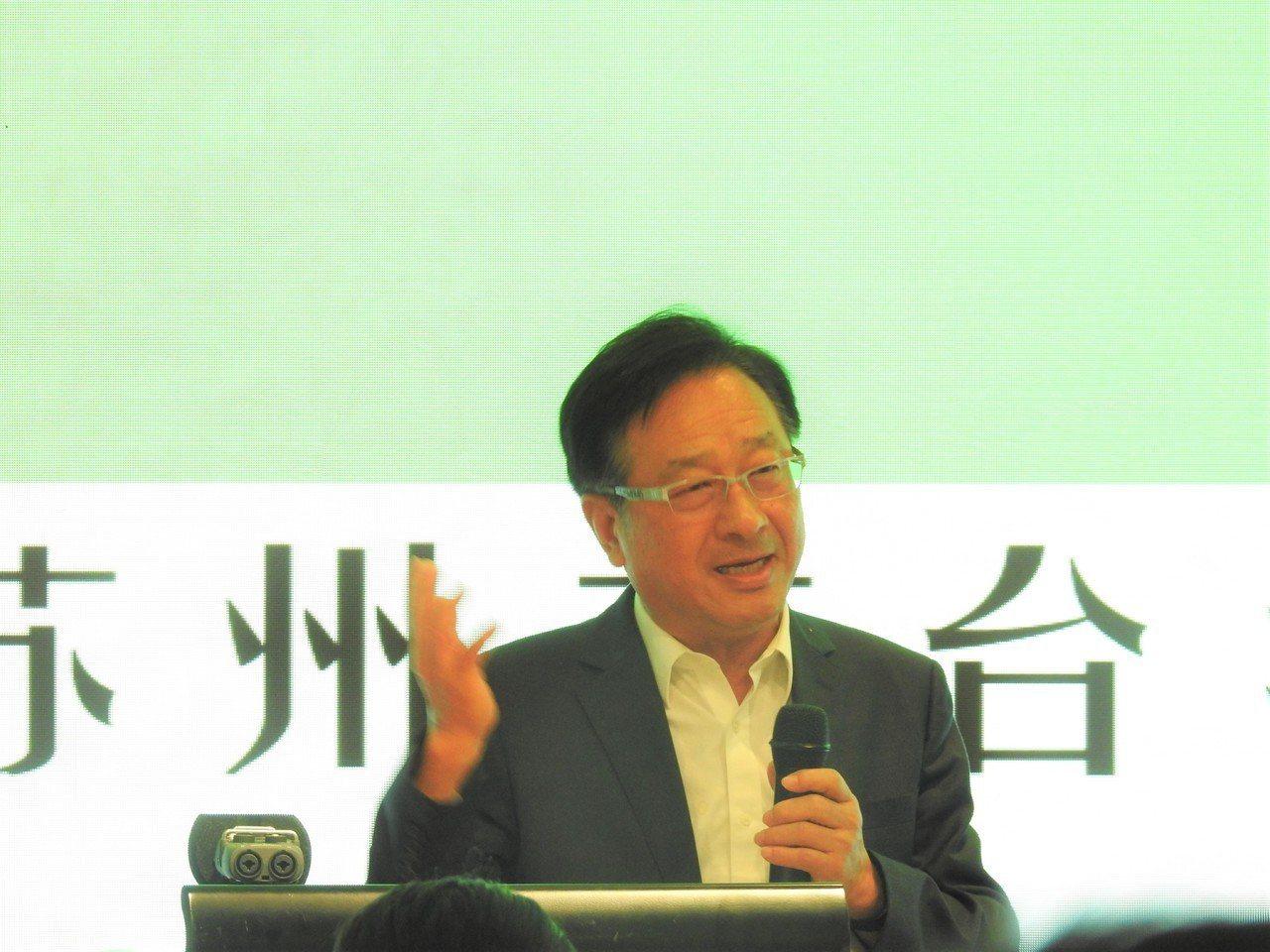 蘇州台協會長謝清福。特派記者林宸誼/攝影