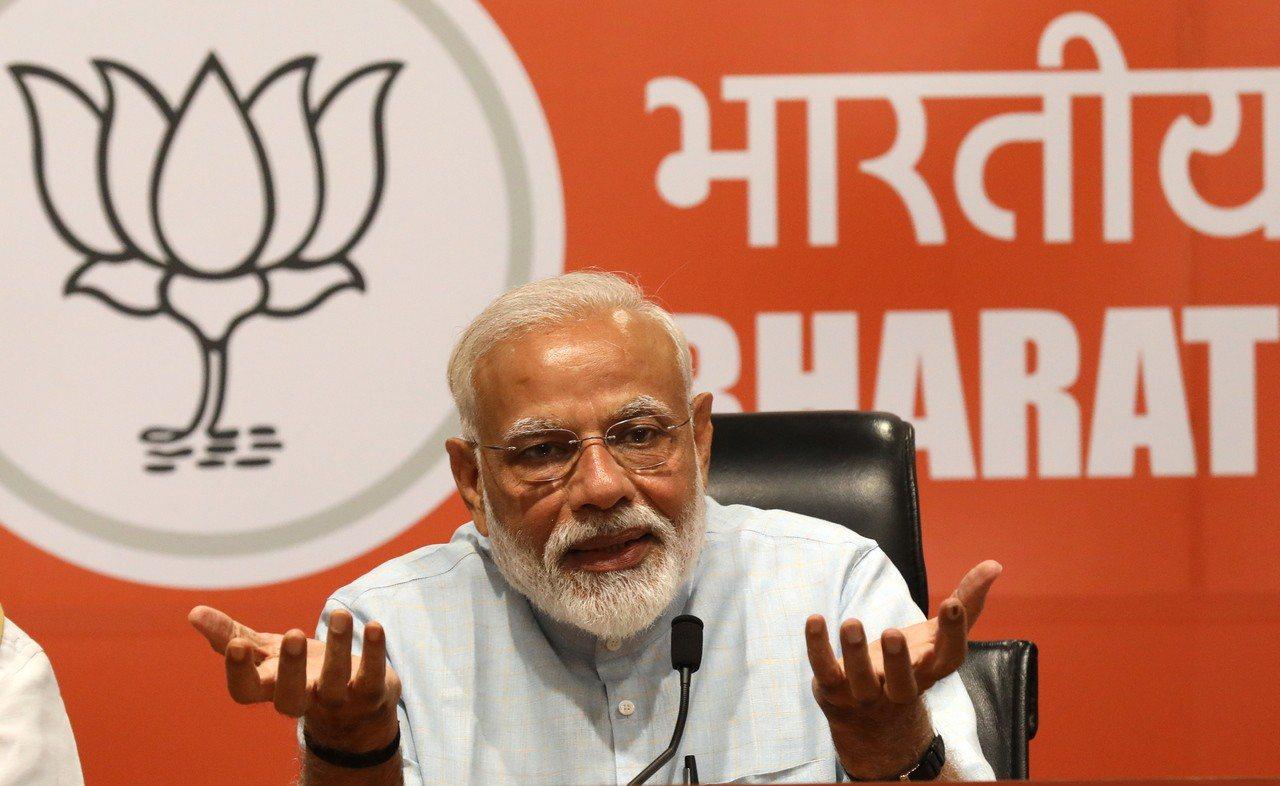 多數出口民調顯示,印度總理莫迪率領的執政聯盟贏得勝利,莫迪可望連任。歐新社