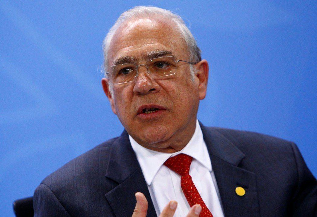 OECD祕書長葛利亞(Angel Gurria)。(圖/路透)