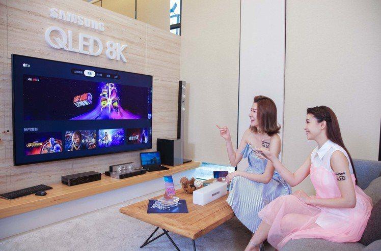三星2019年全系列智慧電視及2018年指定電視機型,將可透過更新支援Apple...