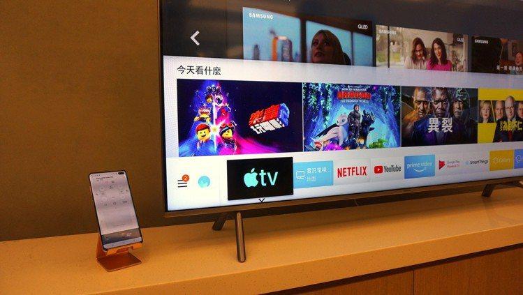三星2019年全系列智慧電視及2018年指定電視機型,更新後內建的智慧應用程式介...