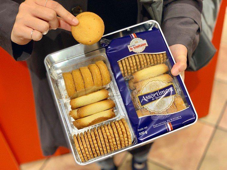 原味薄片、厚片酥塔、層酥蛋捲三款經典商品禮盒,售價650元。記者張芳瑜/攝影