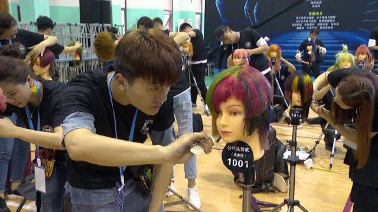 兩岸形象美妝美容美髮技能PK。提供/蘇州廣電總台