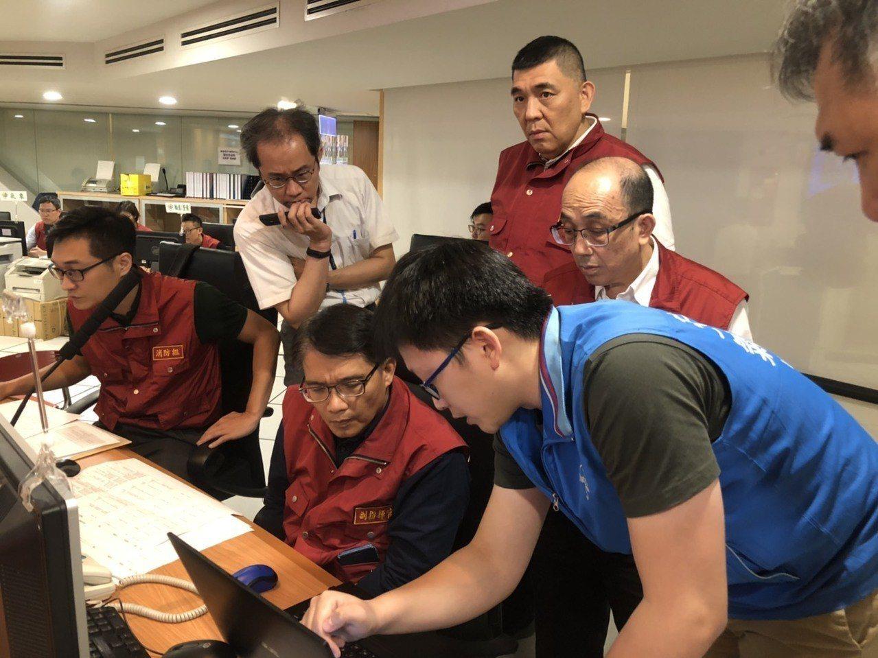 520豪大雨中央災害應變中心晚上9時撤除,回歸各部會應變機制。記者柯毓庭/翻攝