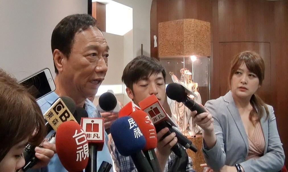 蔡英文就職三周年,郭台銘直批就是小英做衰台灣。 記者蔡維斌/攝影