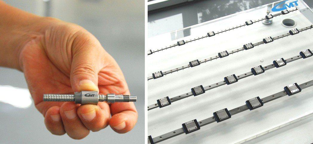 高端精密加工能力是量產微型螺桿及線軌的必要條件,圖中為高明鐵的產品。 楊鎮州/攝...