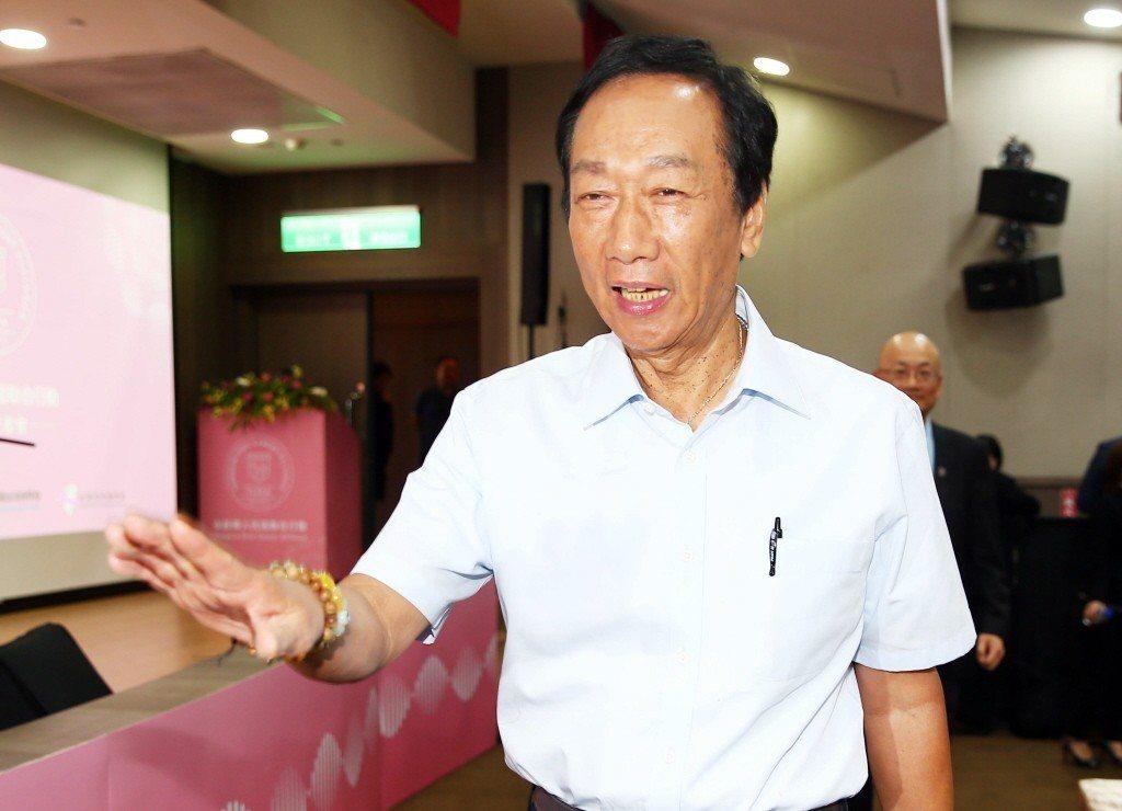 鴻海董事長郭台銘。 聯合報系資料照片/記者杜建重攝影