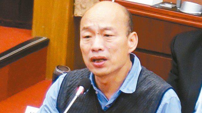 高雄市長韓國瑜再批總統蔡英文不知要把國家帶向什麼方向。 記者楊濡嘉/攝影