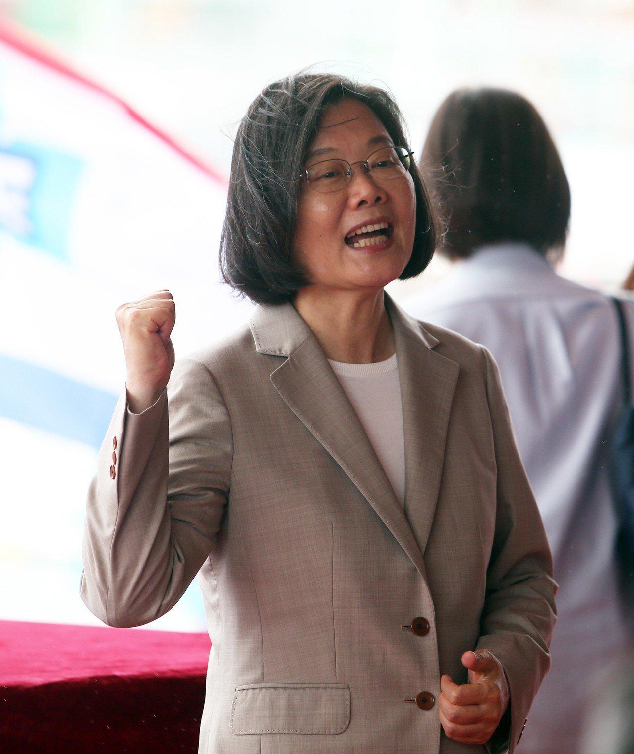 蔡英文總統。 記者劉學聖/攝影