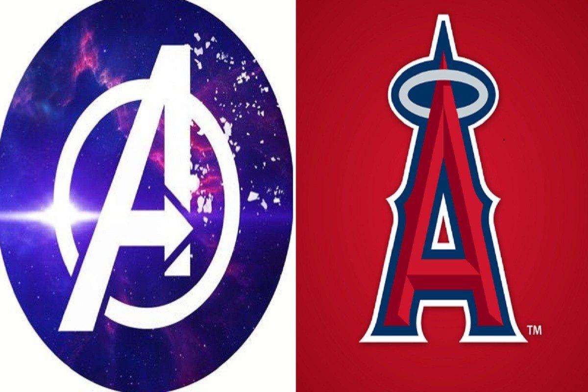 復仇者聯盟與天使隊標誌,均是以A做為象徵。 取材自網路