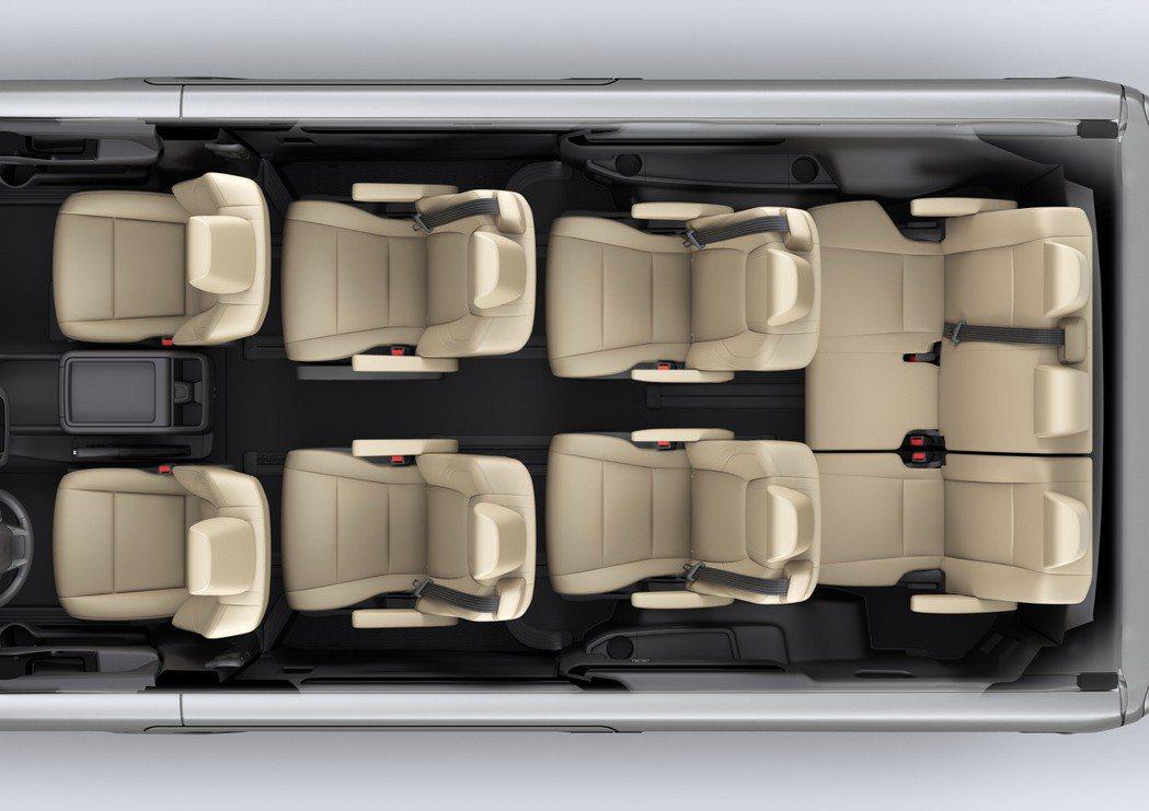 9人座豪華車型座椅配置。 圖/和泰汽車提供