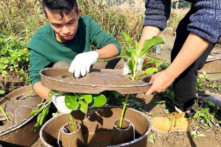 「水源寶育樹盆」研發過程受自然天氣的挑戰。  圖片來源/仁舟官網