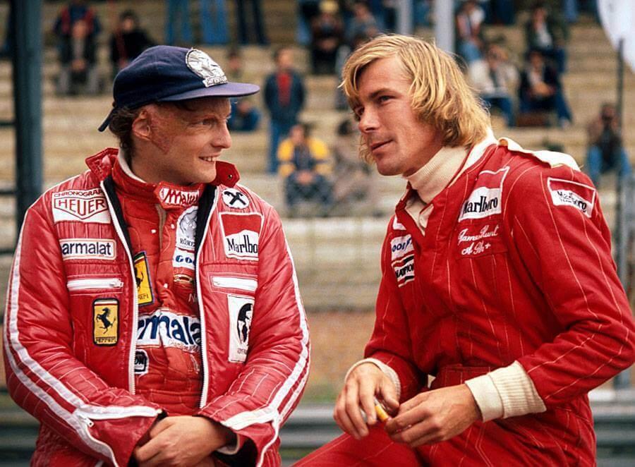 (左)Niki Lauda(右)James Hunt。 F1提供