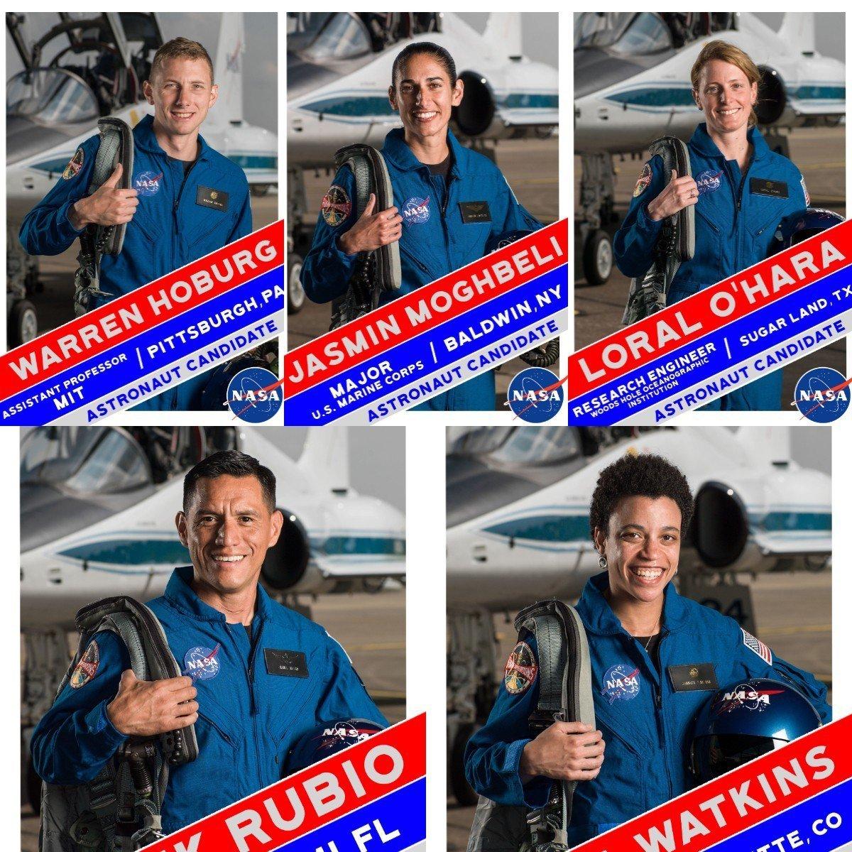 由左上到右上、左下右下分別是沃倫、傑斯米、蘿拉、法蘭克、潔西卡。圖擷自/NASA