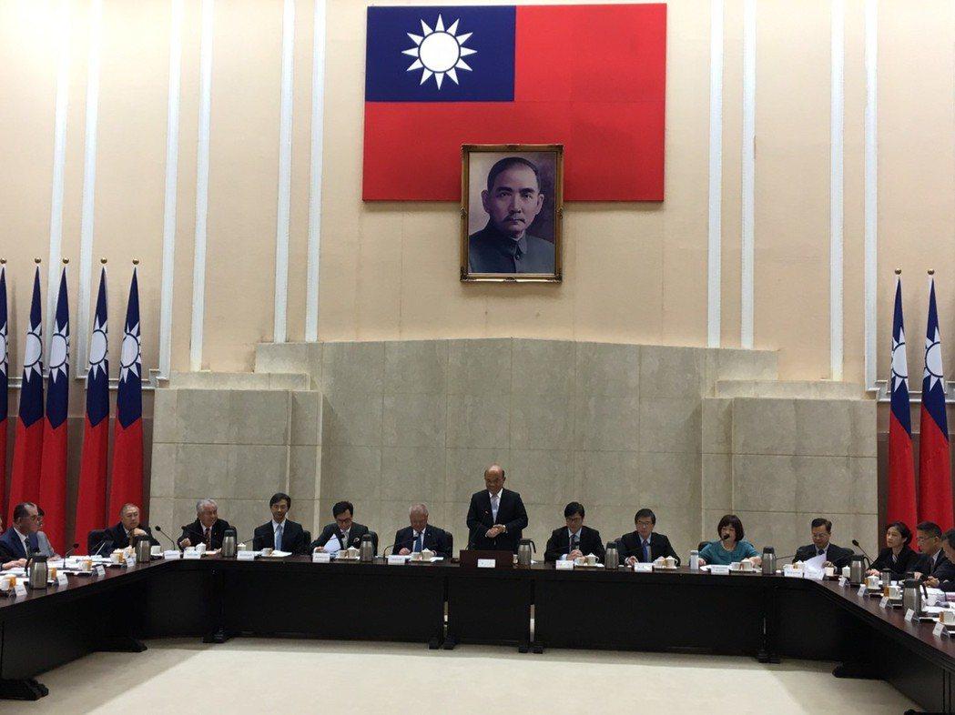行政院長蘇貞昌今天接見工商協進會代表。記者周佑政/攝影