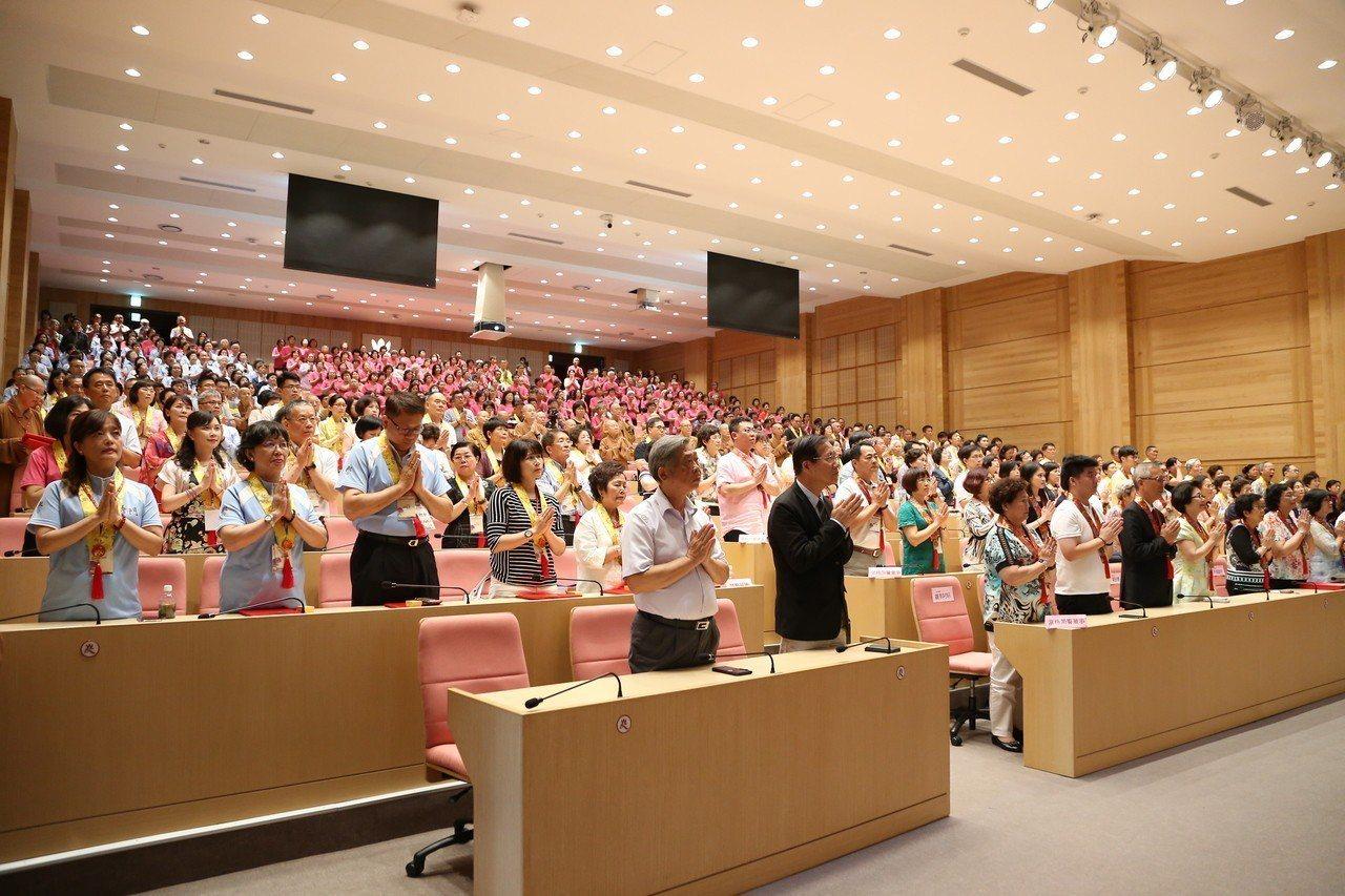 興學紀念館日前啟用,並舉辦連續3天的感恩祈福法會。。圖/南華大學提供