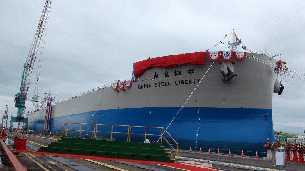 中鋼集團旗下中鋼運運公司委託台灣造船公司建造4 艘20.8萬載重噸原料專輪,首艘...