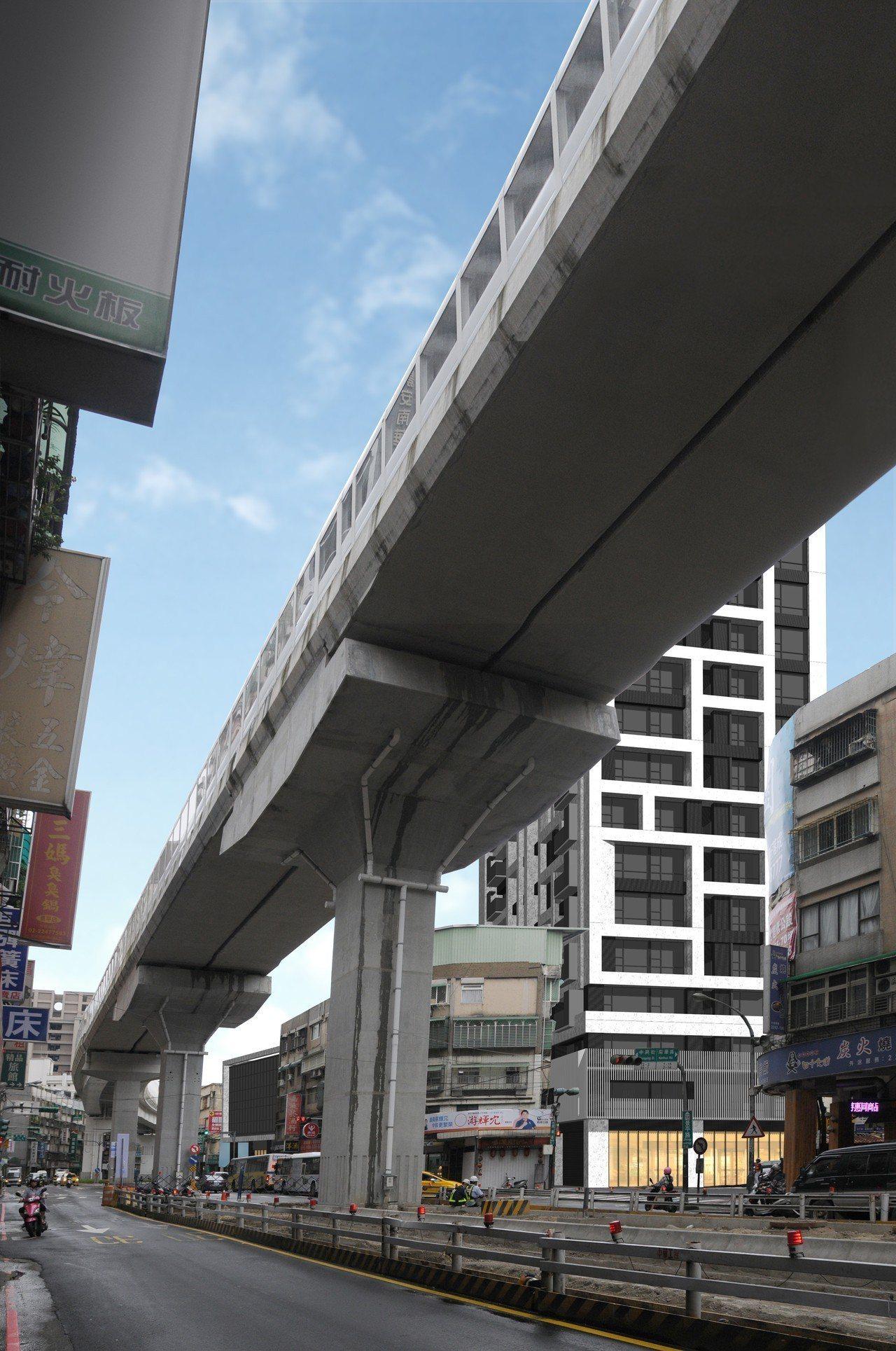 中和南山段危老重建案緊鄰環狀捷運線旁。圖/新北市都更處提供