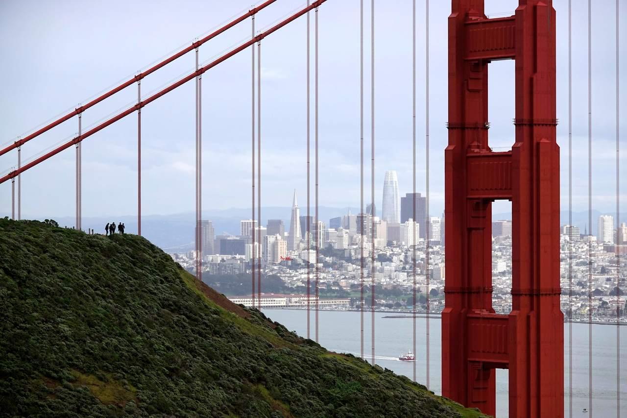 舊金山擠下蘇黎世成為薪水最高的城市,圖為舊金山金門大橋。新華社