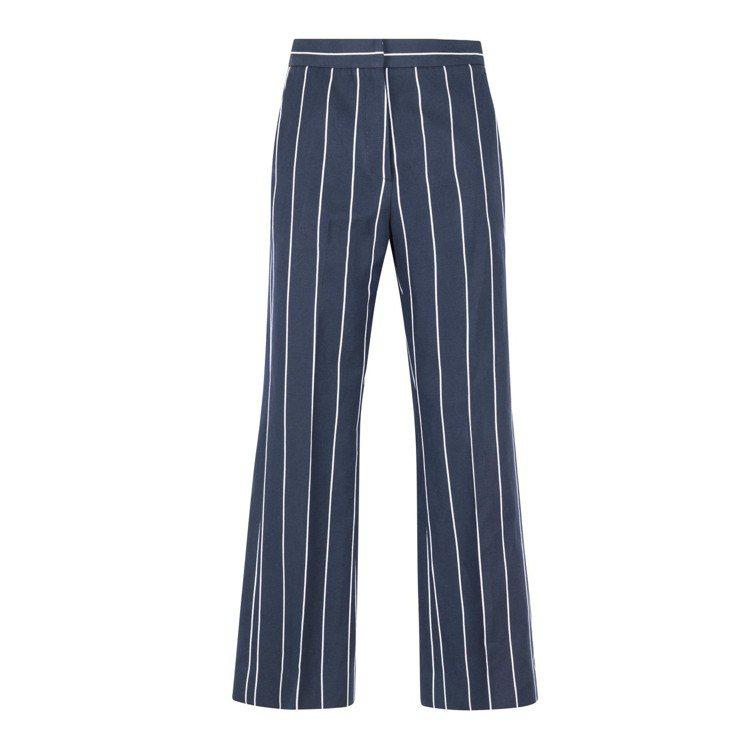 Sandro深藍色條紋西裝褲,售價10,440元。圖/Sandro提供