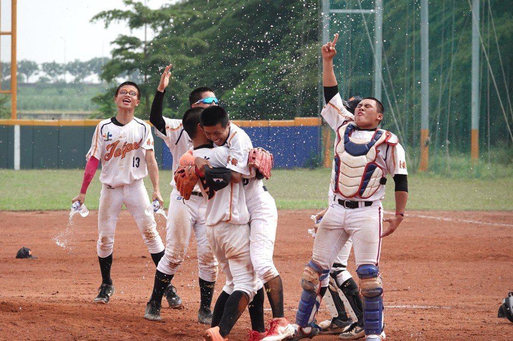 台北市逆轉奪冠,取得小馬聯盟青少棒中華代表權。記者毛琬婷/攝影