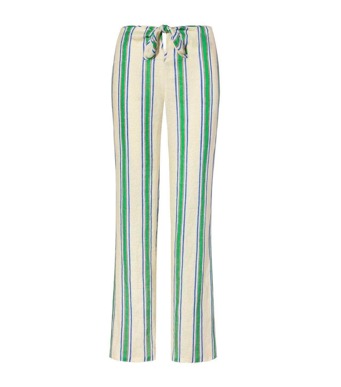 條紋綁帶海灘長褲,10,900元。圖/Tory Burch提供