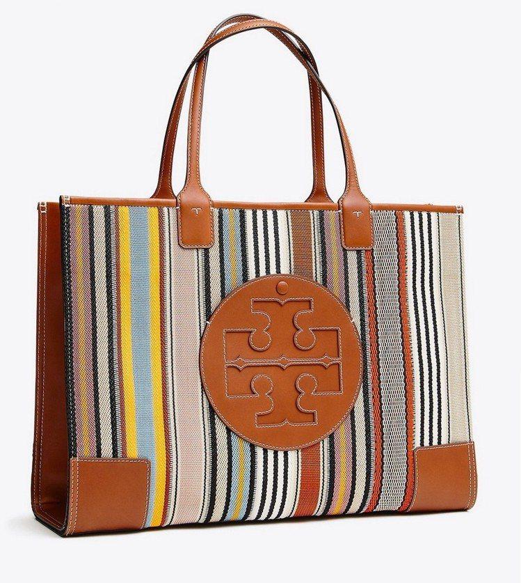 彩色條紋ELLA迷你托特包,24,900元。圖/Tory Burch提供