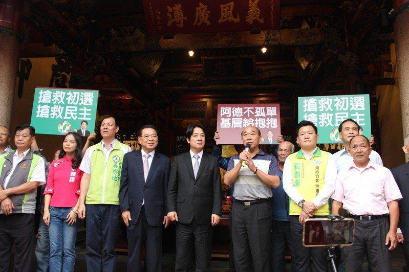 行政院前院長賴清德到新竹縣義民廟參拜並拜訪地方人士。記者張雅婷/攝影