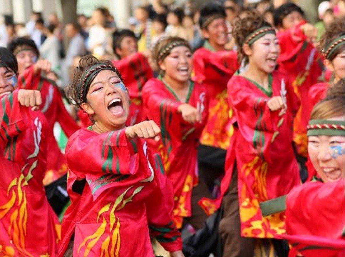 台中市2018年踩舞季,日本高知縣團體在台中演出。圖/取自臉書「台中踩舞季」