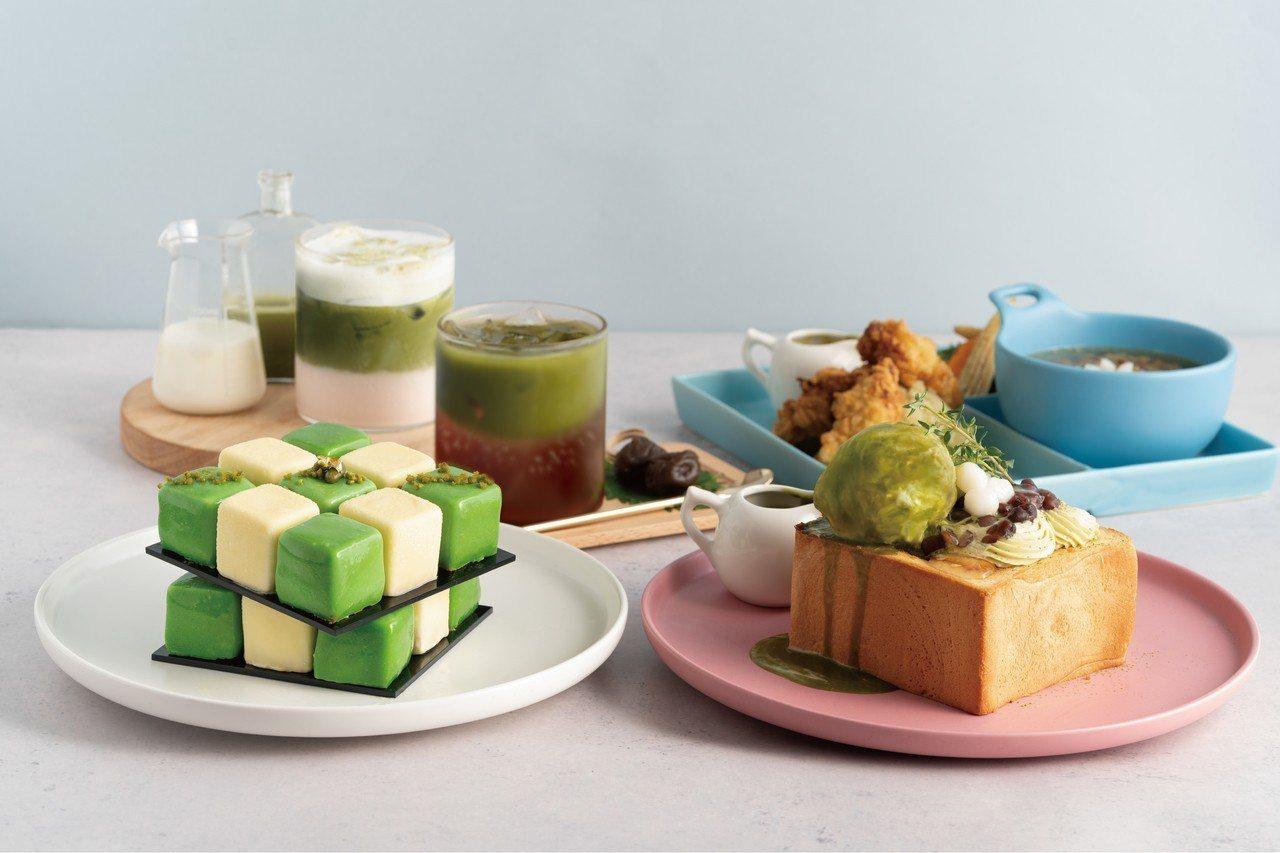 一次享用全系列商品「辻利抹茶雙人套餐」售價1,090元。圖/Dazzling C...